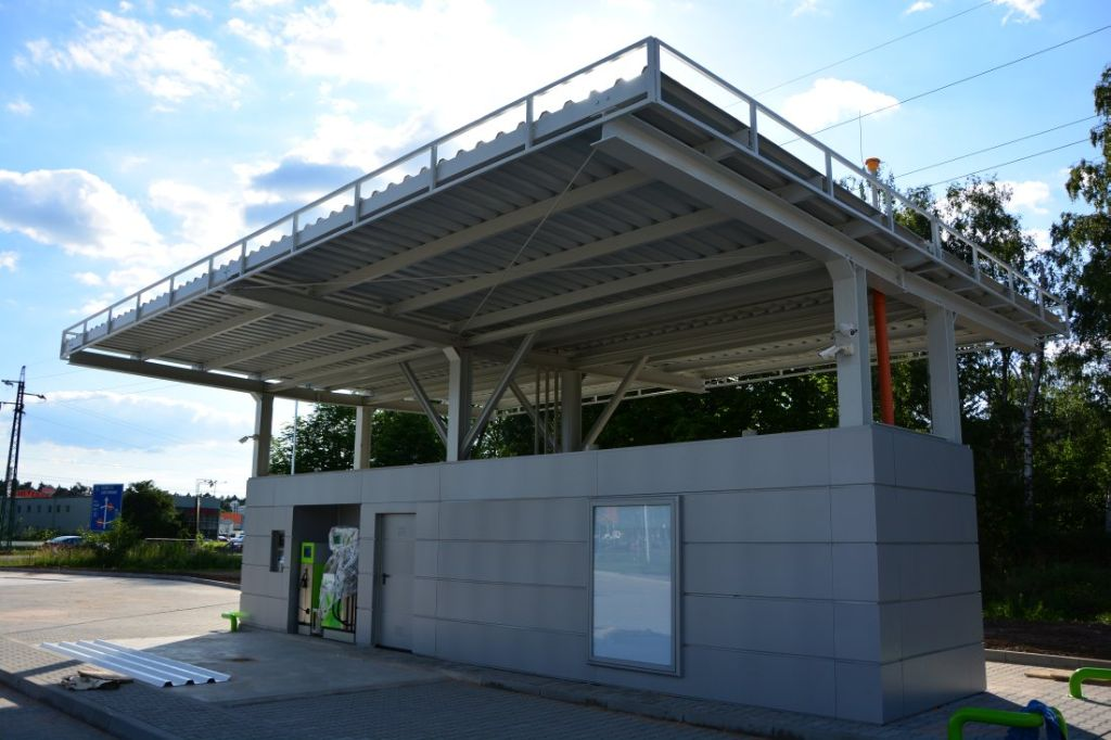 Petrol station in pardubice with krampitz tank container for Construction container