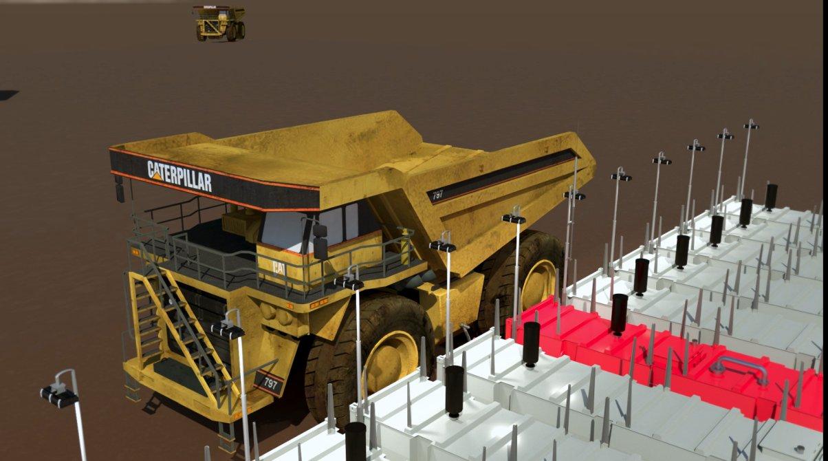 11 tank farm refueling mining dumper truck