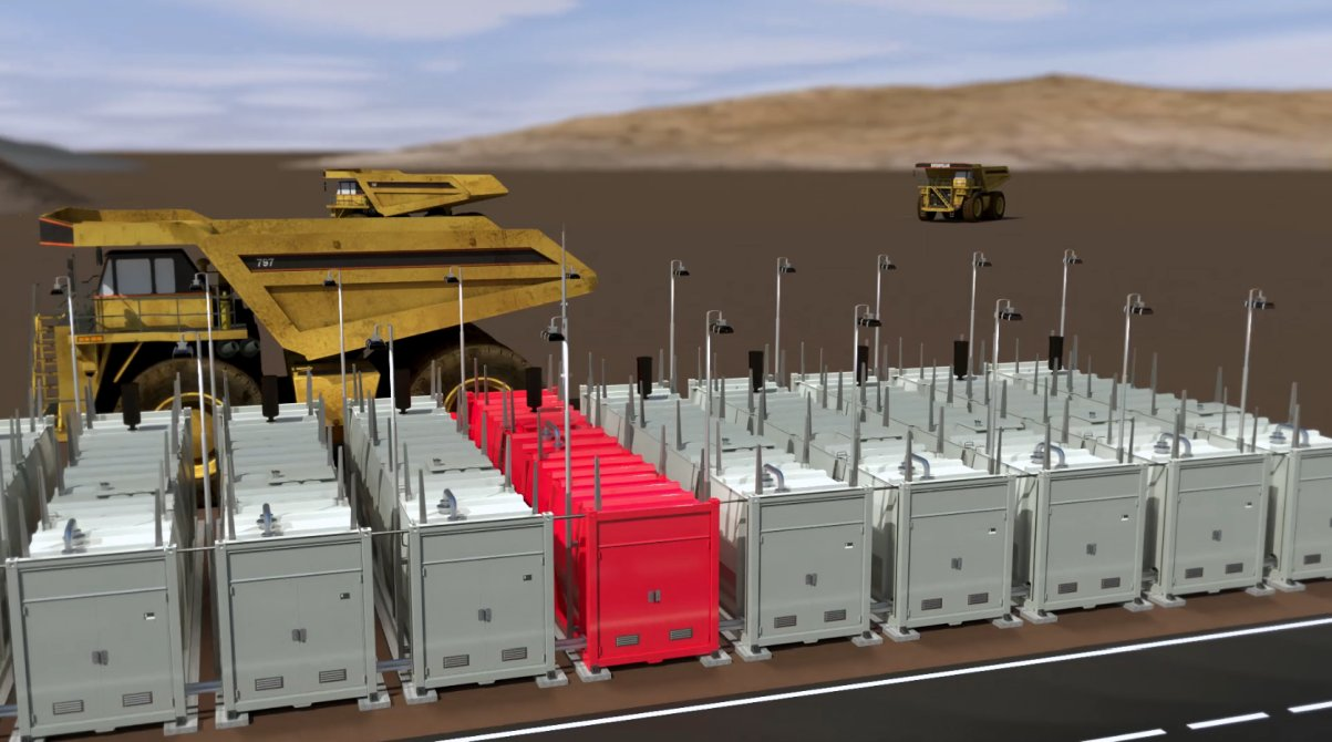 12 fuel tank farm refueling dumper trucks